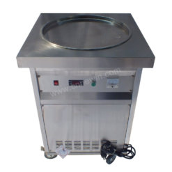 Commercial pan fry ice cream machine